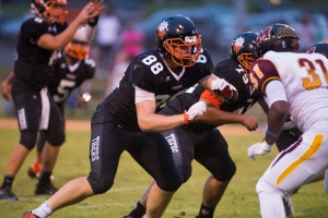 John Kirven stays strong against Bishop McNamara in Woodberry's first-ever night game
